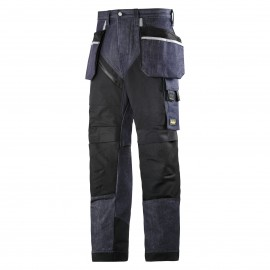 SNICKERS pantalon de travail RUFFWORK denim+ poche holster